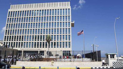 A embaixada dos EUA em Havana, em uma imagem de arquivo.