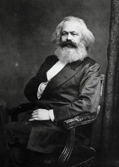 O filósofo e político Karl Marx (Trier, 1818 – Londres, 1883)