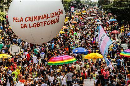 20ª edição da Parada do Orgulho LGBT de São Paulo.