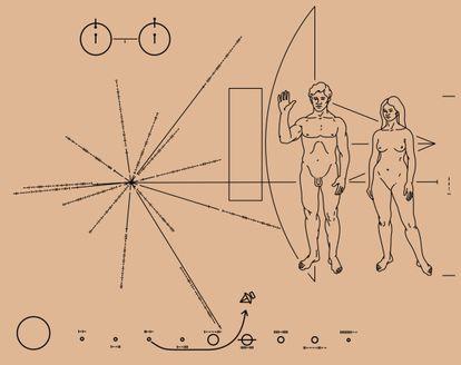 Placa da Pioneer 10