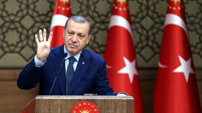 O presidente turco, Tayyip Erdogan.