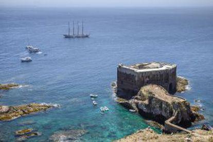 Forte de São João Baptista, na ilha de Berlenga Grande (Portugal).