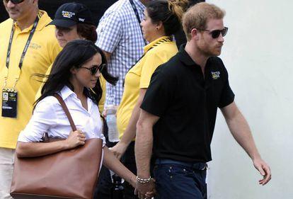 Meghan Markle e o príncipe Henry, da Inglaterra, em setembro passado em Toronto.