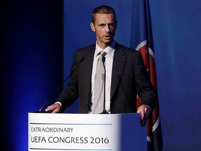 Aleksander Ceferin, no Congresso da UEFA.