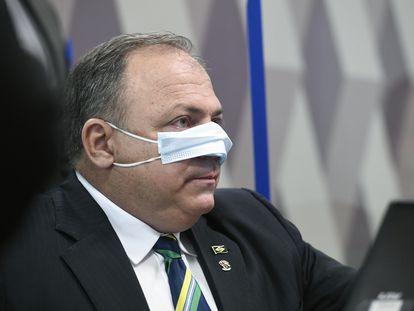 O general Eduardo Pazuello, em depoimento à CPI da Pandemia no Senado na quarta-feira.