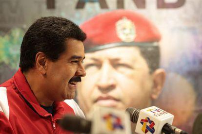 Maduro na apresentação do canal de televisão do Exército da Venezuela.