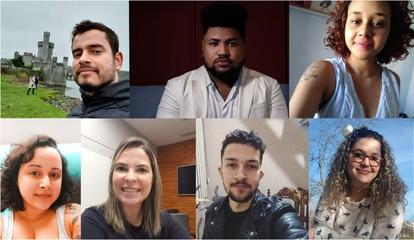 Danilo, Ricardo, Heloisa, Gabriela, Luiz, Thais e Cristiane: todos filhos orgulhosos de porteiros que conseguiram cursar uma faculdade.