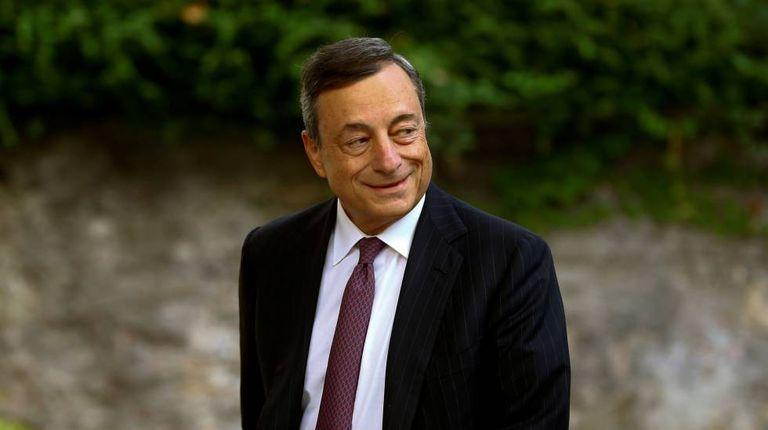 Mario Draghi, presidente do BCE, na Alemanha, há uma semana.