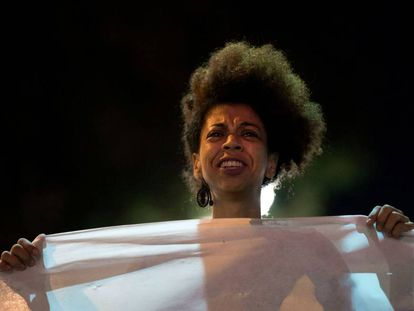 Manifestante no Rio.