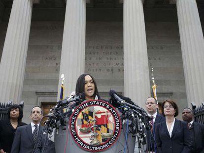 A promotora de Baltimore, Marilyn Mosby.