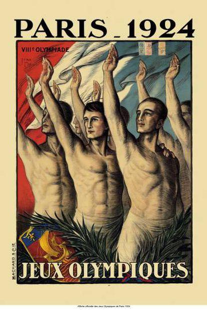 Pôster dos jogos de Paris em 1924, do Museu Olímpico de Lausanne.