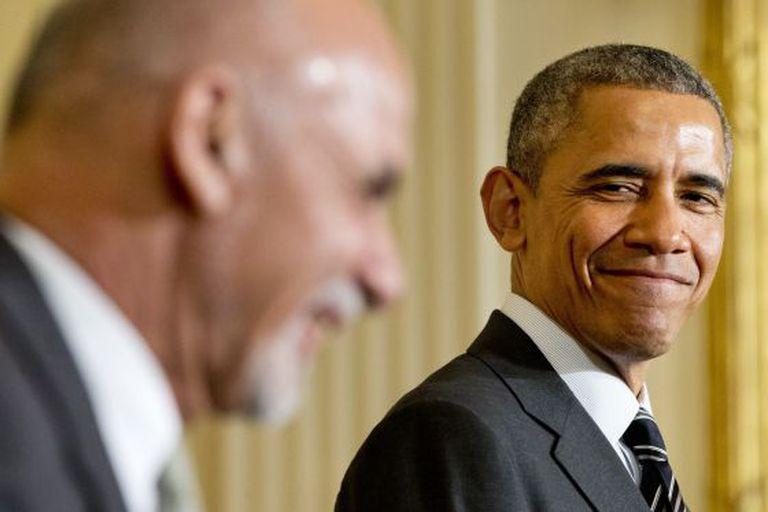 Barack Obama e Ashraf Ghani.