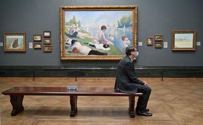 A National Gallery de Londres reabre após período de 'lockdown' no Reino Unido, nesta segunda-feira.