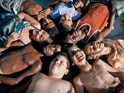 Os alunos de Carmela em 'Numa escola de Havana'.
