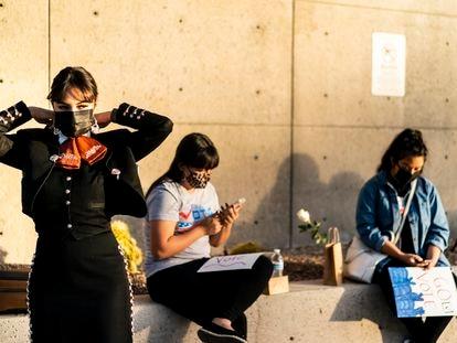 Mulheres de uma família mexicana se organizam para promover o voto em Las Vegas (Nevada) durante as últimas eleições.