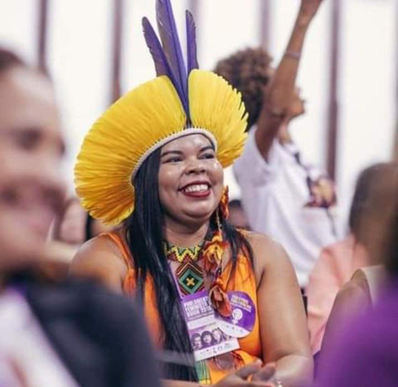 Kandara Pataxó, candidata a vereadora em Santa Cruz Cabrália (BA) pelo PSD.