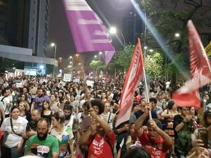 Manifestação em São Paulo faz percurso do Largo da Batata até Av. Paulista.