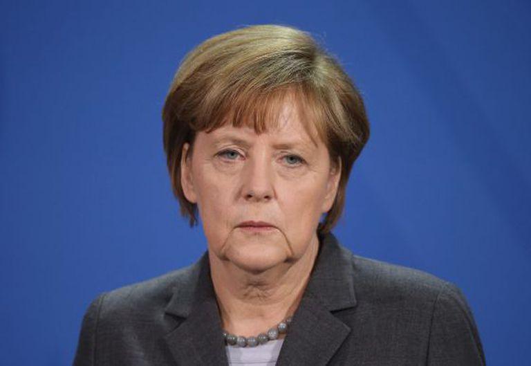A chanceler Merkel nesta sexta-feira em Berlim.