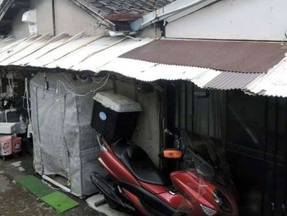 Casa onde foi encontrado, congelado, o cadáver de Airi Kakimoto