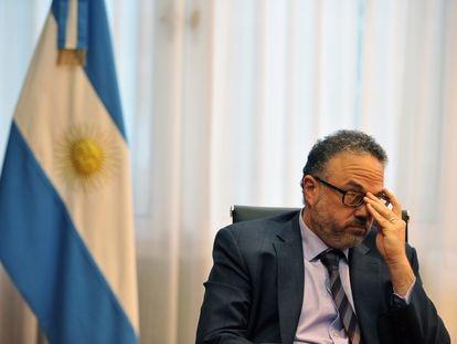 O ministro do Desenvolvimento Produtivo da Argentina, Matías Kulfas, durante a entrevista com o EL PAÍS em seu gabinete, em 31 de março de 2021.