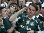 Bolsonaro durante partida do Palmeiras.