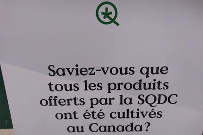 """""""Sabia que todos os produtos oferecidos pela SQDC foram cultivados no Canadá?"""""""