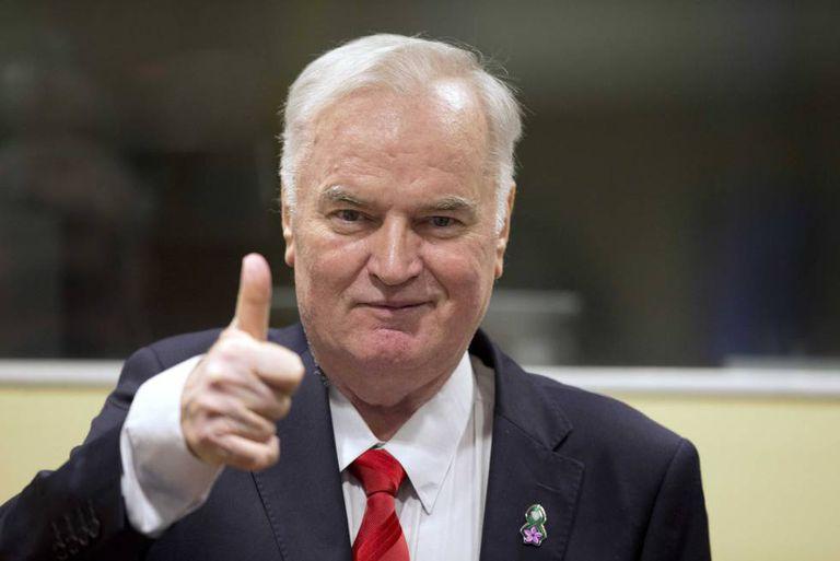 O ex-líder militar servo-bósnio Ratko Mladic