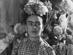 (Original Caption) Frida Kahlo, Mexican painter, and wife of Diego Rivera is shown in this photograph.