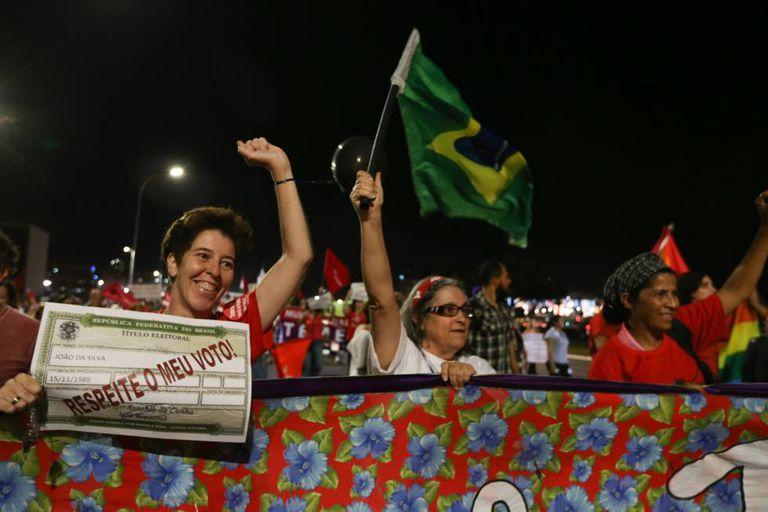 Protesto contra o governo de Temer em Brasília