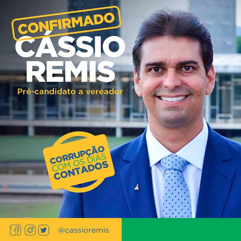Arte da campanha de Cassio Remis a vereador de Patrocínio-MG.