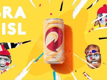 """Publicidade da Skol lançada na Copa do Mundo, que """"motiva"""" os islandeses a não perderem para a Argentina"""