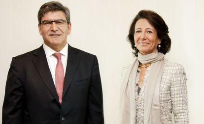 José Antonio Álvarez, executivo-chefe do Santander, com a presidenta Ana Botín.