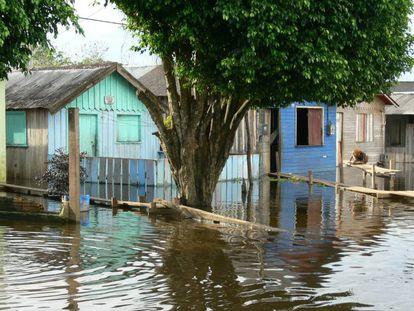 Crescida do rio em Itacoatiara, no Estado de Amazonas, em 2009.