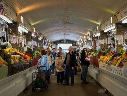 Um mercado em Cleveland, Ohio