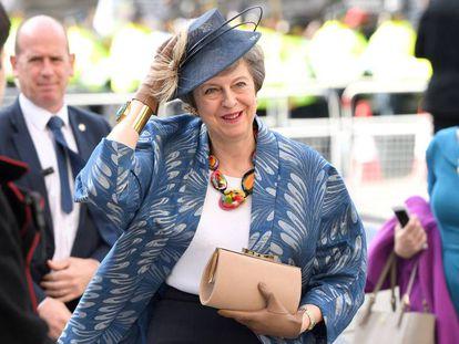 Theresa May, nesta segunda-feira, em um ato oficial na Abadia de Westminster.