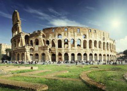 O Coliseo romano.