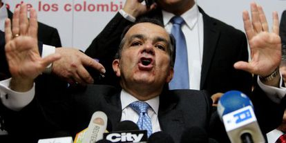 Oscar Iván Zuluaga, nesta segunda-feira em Bogotá.