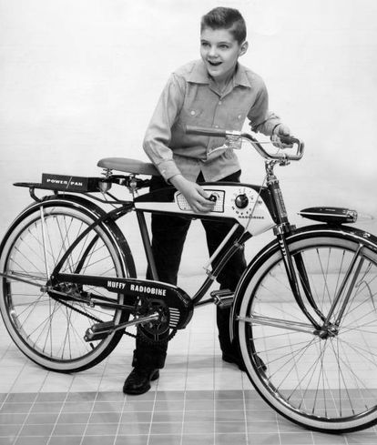 Bicicleta com rádio de 1955