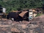 FILE PHOTO: A view of a collapsed tailings dam owned by Brazilian mining company Vale SA, in Brumadinho, Brazil February 10, 2019. REUTERS/Washington Alves/File Photo