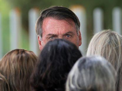 O presidente Jair Bolsonaro, no Palácio da Alvorada, no último dia 4 de fevereiro.