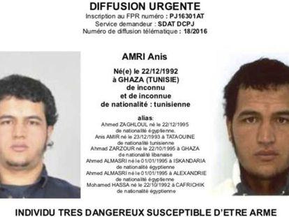 O suspeito tunisiano procurado pela polícia alemã.
