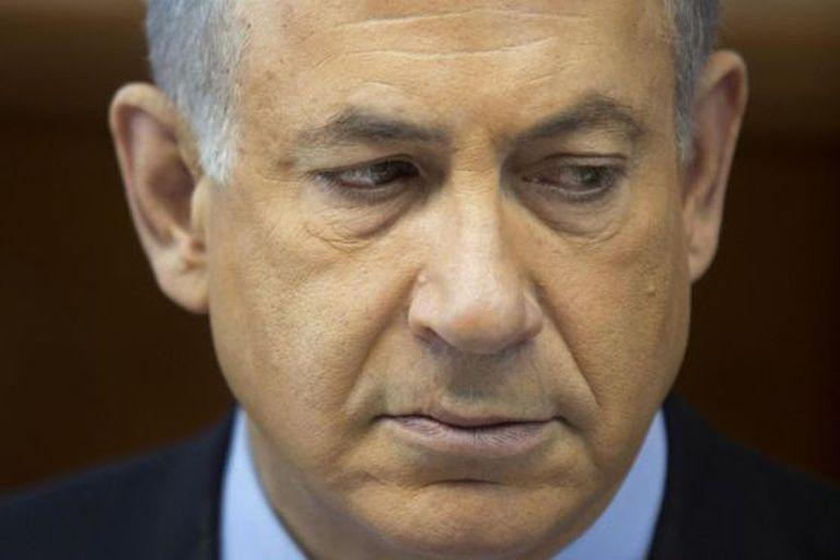 Benjamin Netanyahu no conselho de ministros deste domingo.