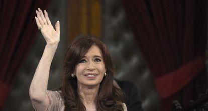 Cristina Kirchner durante sessão do Congresso, em março.