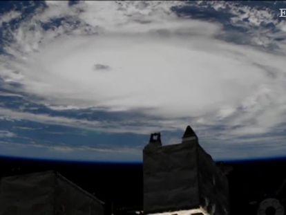 O furacão Dorian visto do espaço.