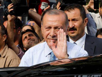 Recep Tayyip Erdogan, neste domingo em Istambul.