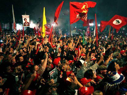Apoiadores do ex-presidente Lula, em Curitiba.