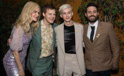 Nicole Kidman, Lucas Hedges, Troye Sivan e Garrard Conley na estreia de 'Boy Erased'