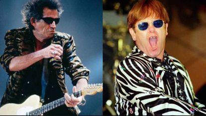 Keith e Elton ainda não são muito amigos.