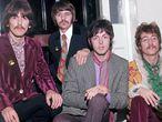 George Harrison, Ringo Starr, Paul McCartney y John Lennon: The Beatles en 1967.