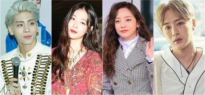 Kim Jong-hyun, Sulli, Goo Hara e Seo Min-woo, quatro estrelas pop sul-coreanas que tiraram suas próprias vidas e alertaram o mundo sobre os perigos das práticas realizadas com as jovens promessas da Coreia do Sul.
